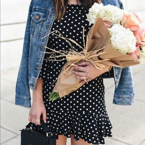Topshop Bardot frill mini dress